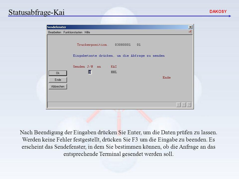 Statusabfrage-Kai