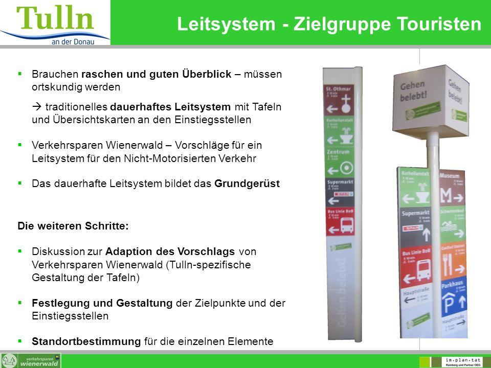 Leitsystem - Zielgruppe Touristen