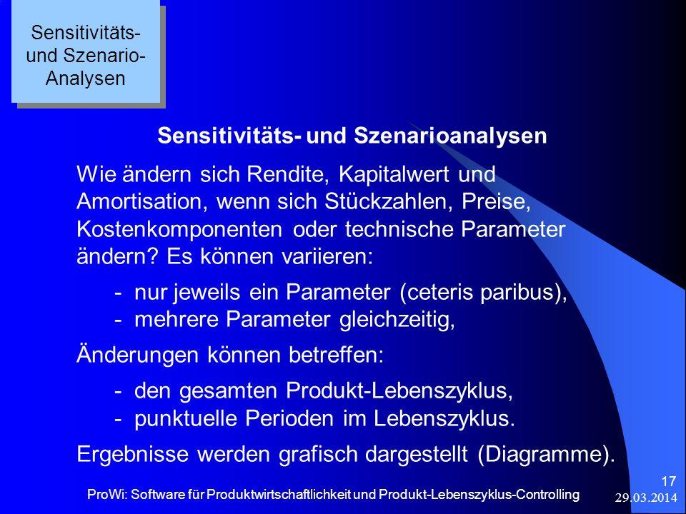 Sensitivitäts- und Szenarioanalysen