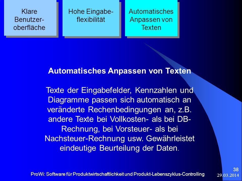 Automatisches Anpassen von Texten