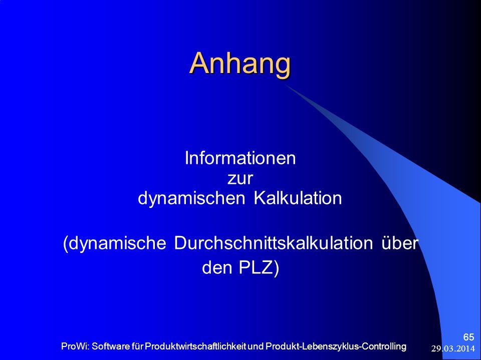 Anhang Informationen zur dynamischen Kalkulation