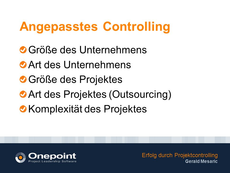 Angepasstes Controlling