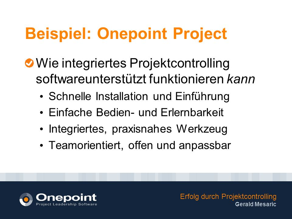 Beispiel: Onepoint Project