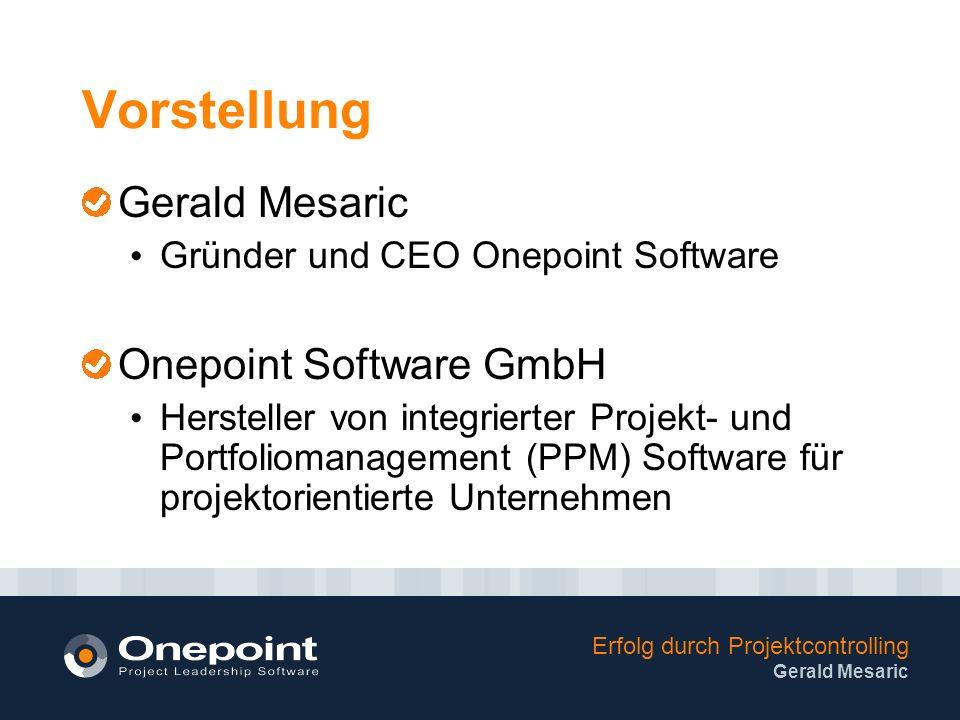 Vorstellung Gerald Mesaric Onepoint Software GmbH
