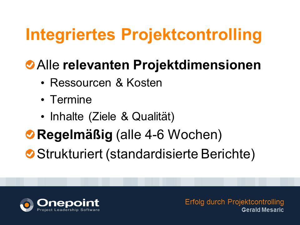Integriertes Projektcontrolling