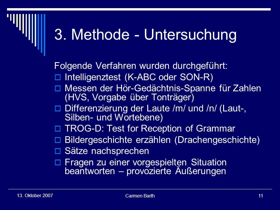 3. Methode - Untersuchung