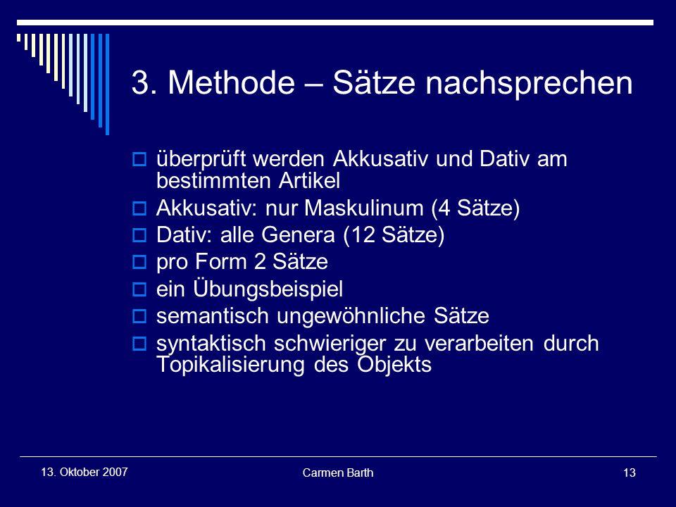 3. Methode – Sätze nachsprechen