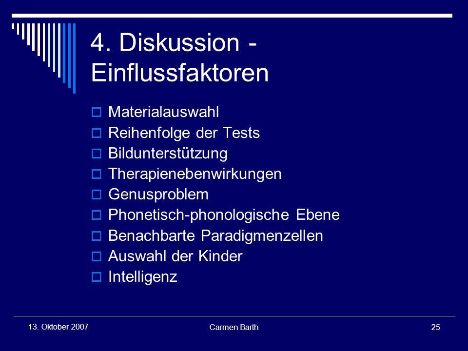 4. Diskussion - Einflussfaktoren
