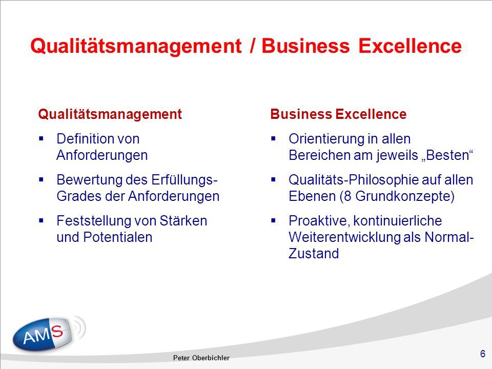 Qualitätsmanagement / Business Excellence