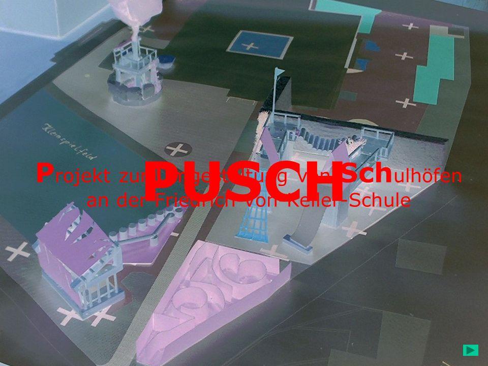 PUSCH Projekt zur Umgestaltung von Schulhöfen an der Friedrich-von-Keller-Schule.
