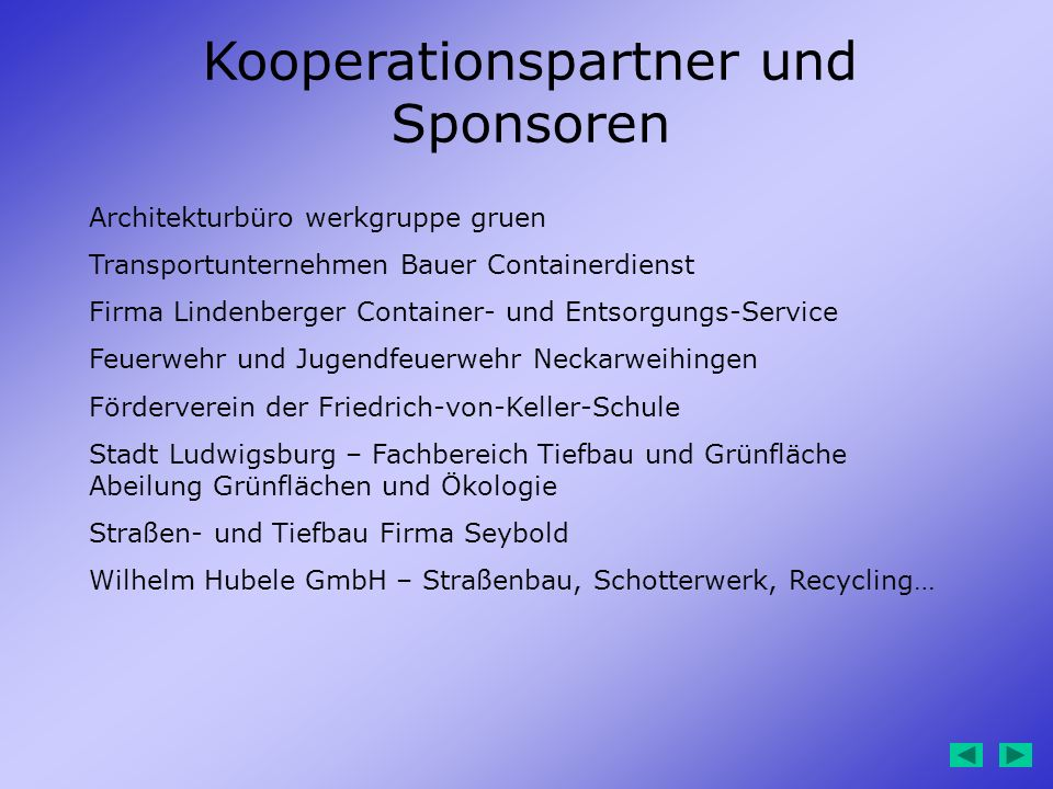 Kooperationspartner und Sponsoren
