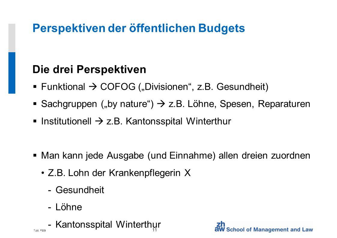 Perspektiven der öffentlichen Budgets