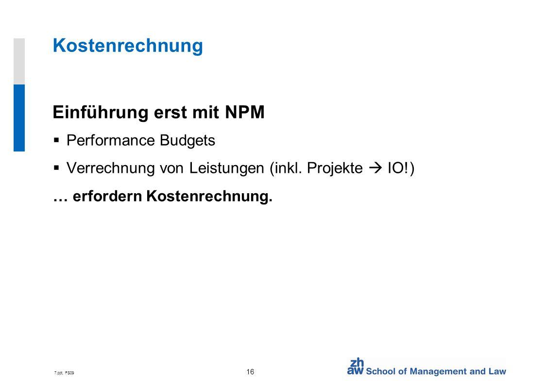 Kostenrechnung Einführung erst mit NPM Performance Budgets