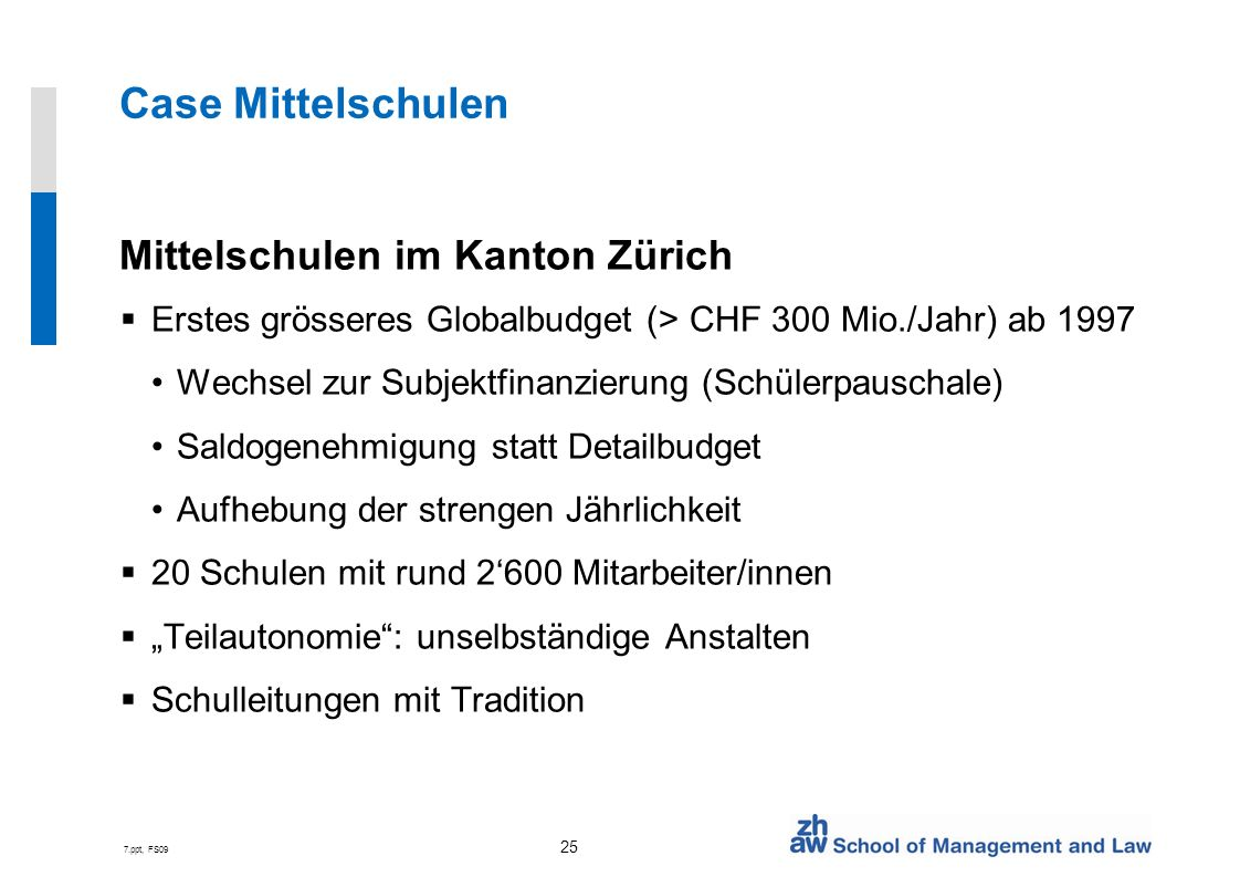 Case Mittelschulen Mittelschulen im Kanton Zürich