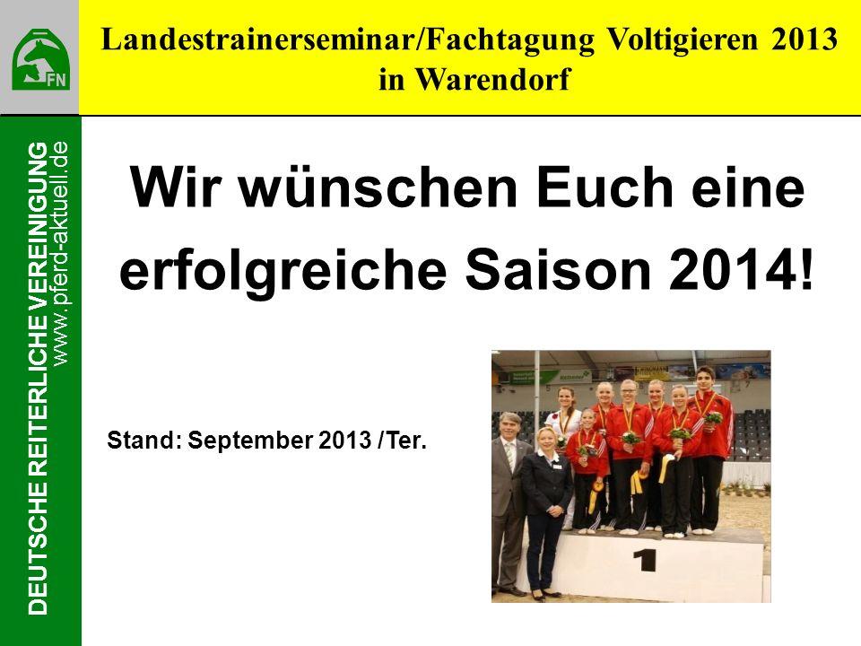 Landestrainerseminar/Fachtagung Voltigieren 2013 in Warendorf