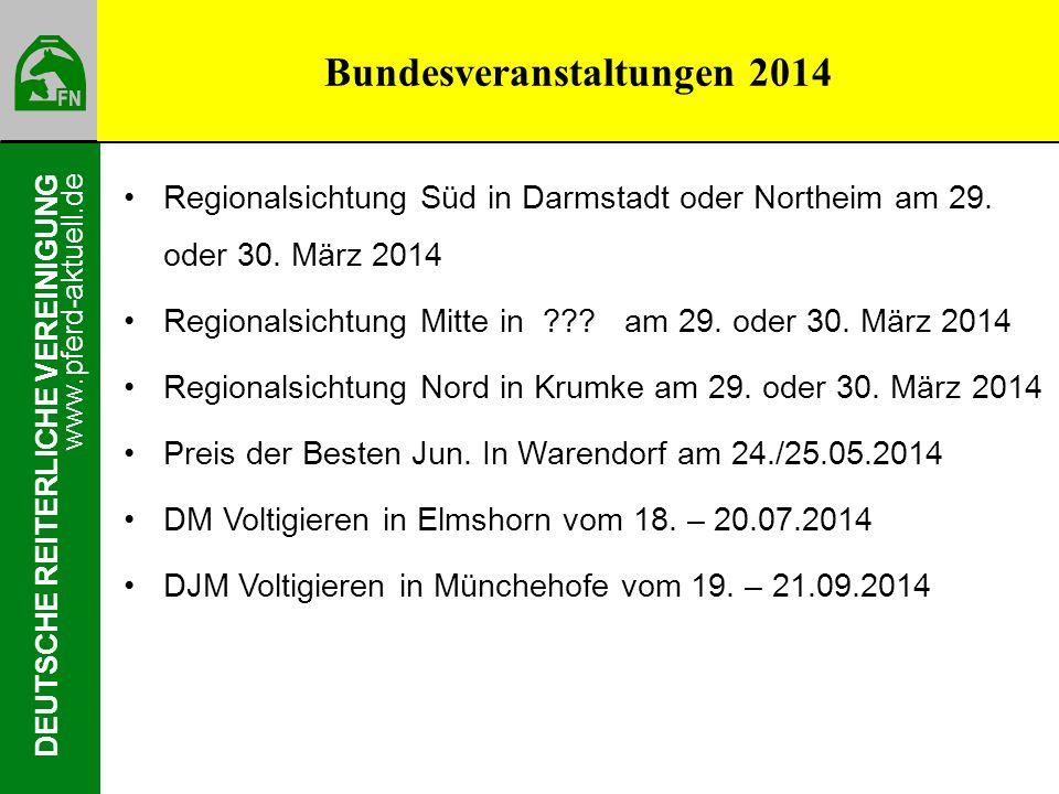 Bundesveranstaltungen 2014