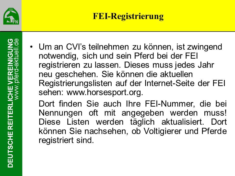 FEI-Registrierung