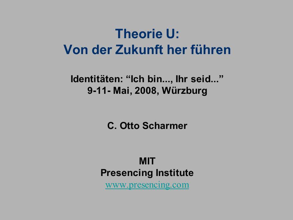 Theorie U: Von der Zukunft her führen Identitäten: Ich bin..., Ihr seid... 9-11- Mai, 2008, Würzburg C. Otto Scharmer MIT Presencing Institute www.presencing.com