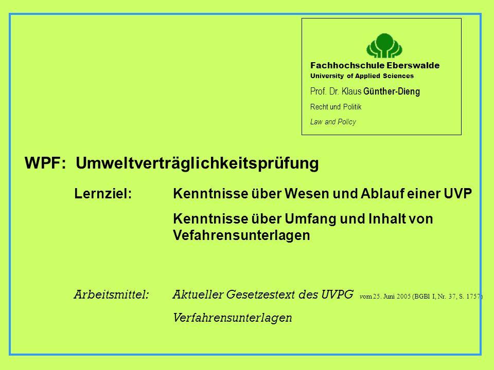 WPF: Umweltverträglichkeitsprüfung