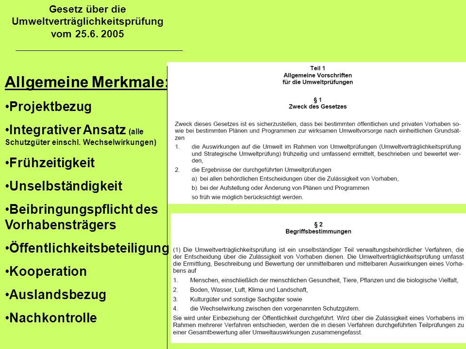 Gesetz über die Umweltverträglichkeitsprüfung vom 25.6. 2005