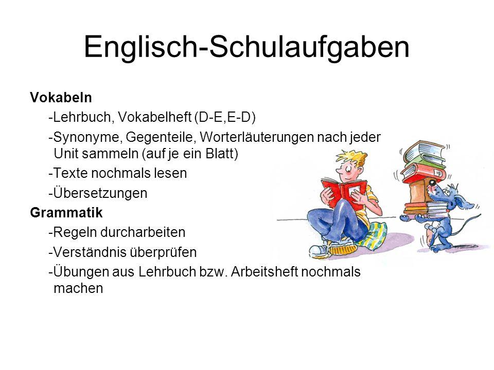 Englisch-Schulaufgaben