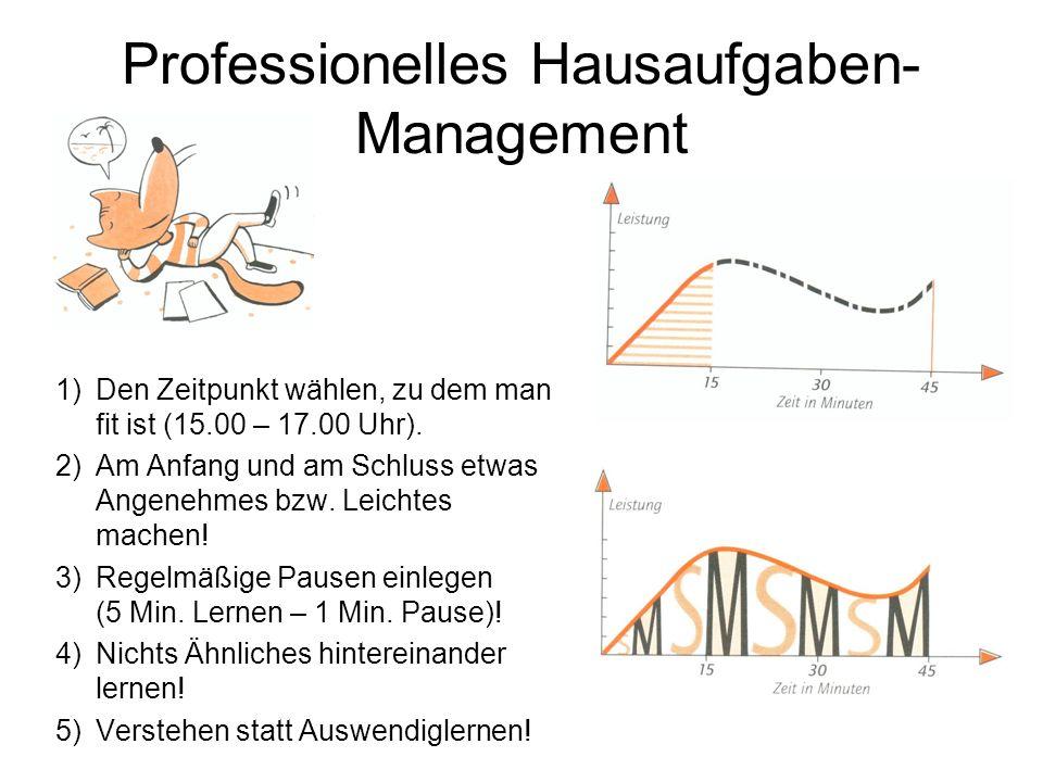 Professionelles Hausaufgaben-Management