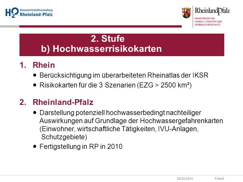 2. Stufe b) Hochwasserrisikokarten