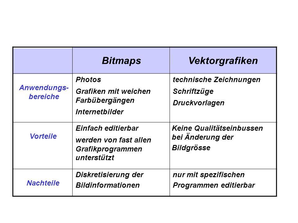 Bitmaps Vektorgrafiken
