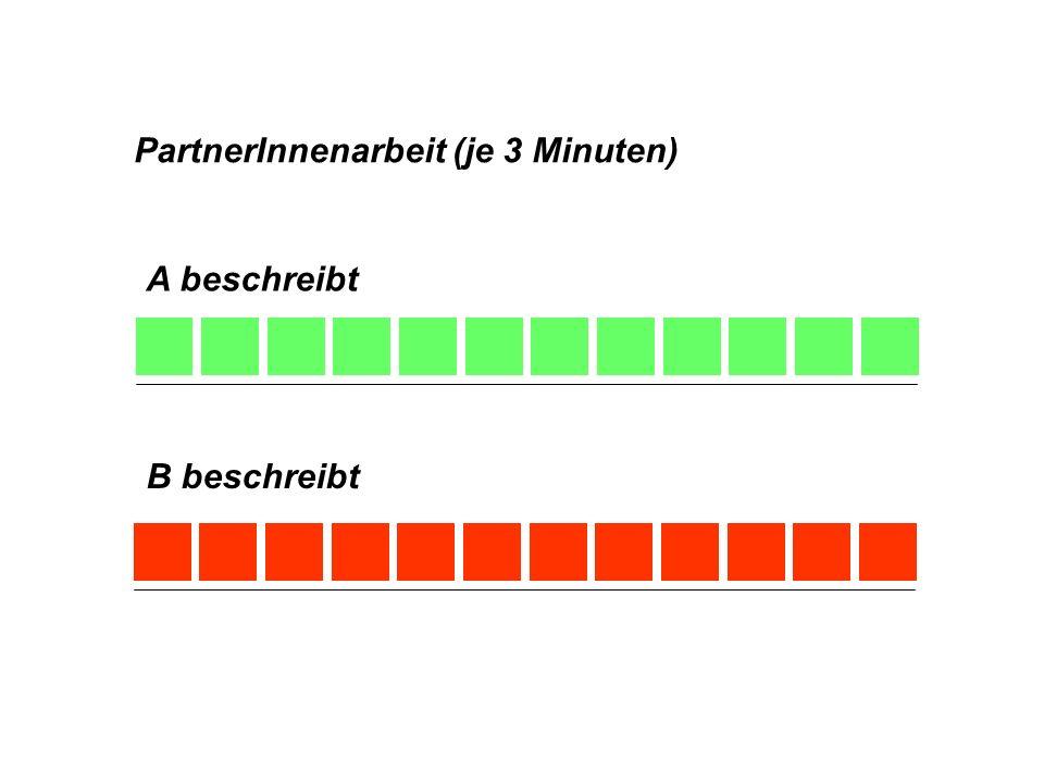 PartnerInnenarbeit (je 3 Minuten)