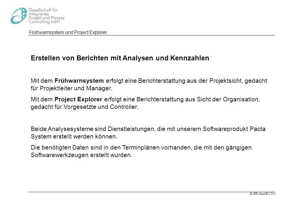 Frühwarnsystem und Project Explorer