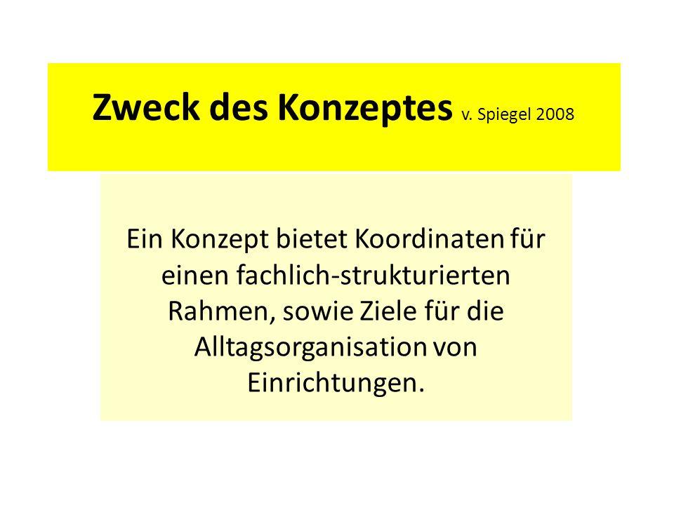 Zweck des Konzeptes v. Spiegel 2008