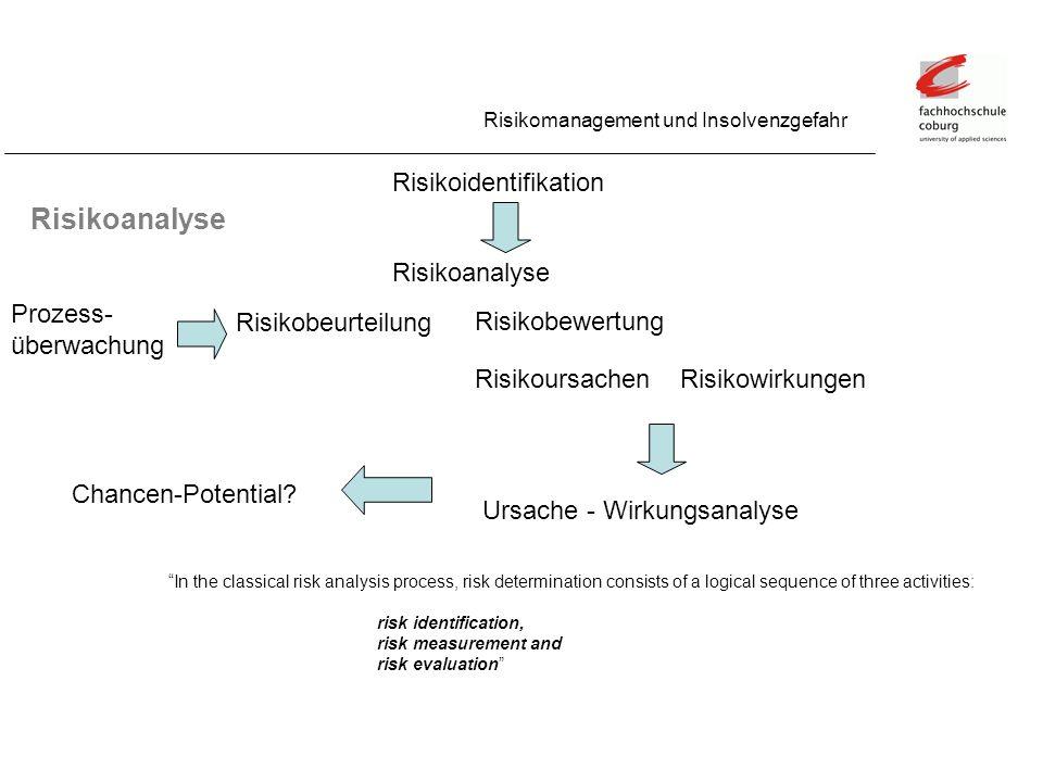 Risikoanalyse Risikoidentifikation Risikoanalyse Prozess-überwachung