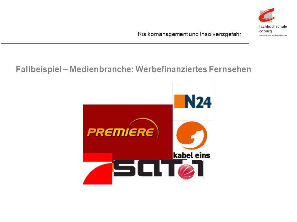 Fallbeispiel – Medienbranche: Werbefinanziertes Fernsehen