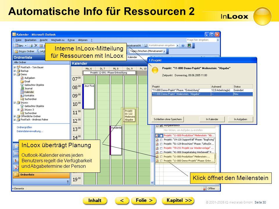 Automatische Info für Ressourcen 2
