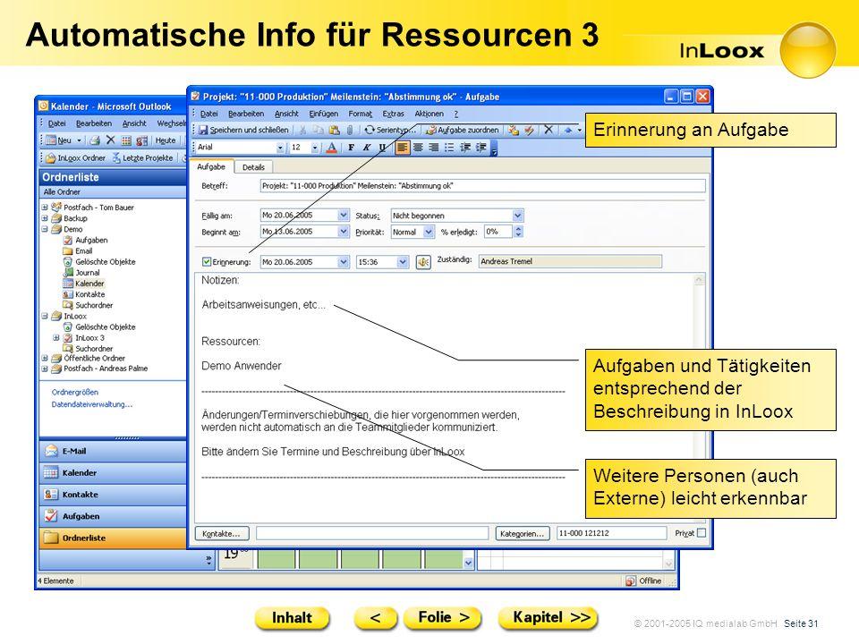 Automatische Info für Ressourcen 3