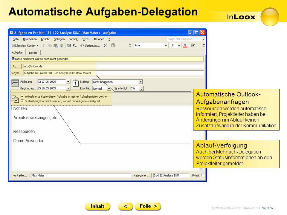 Automatische Aufgaben-Delegation