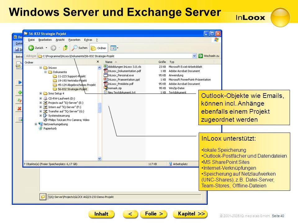 Windows Server und Exchange Server