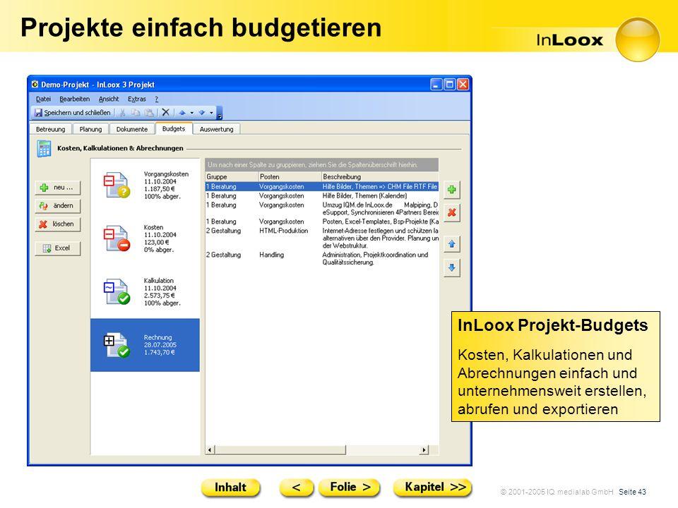 Projekte einfach budgetieren