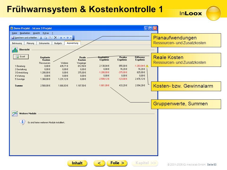 Frühwarnsystem & Kostenkontrolle 1