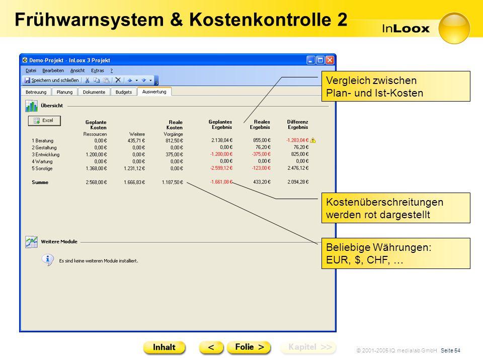 Frühwarnsystem & Kostenkontrolle 2