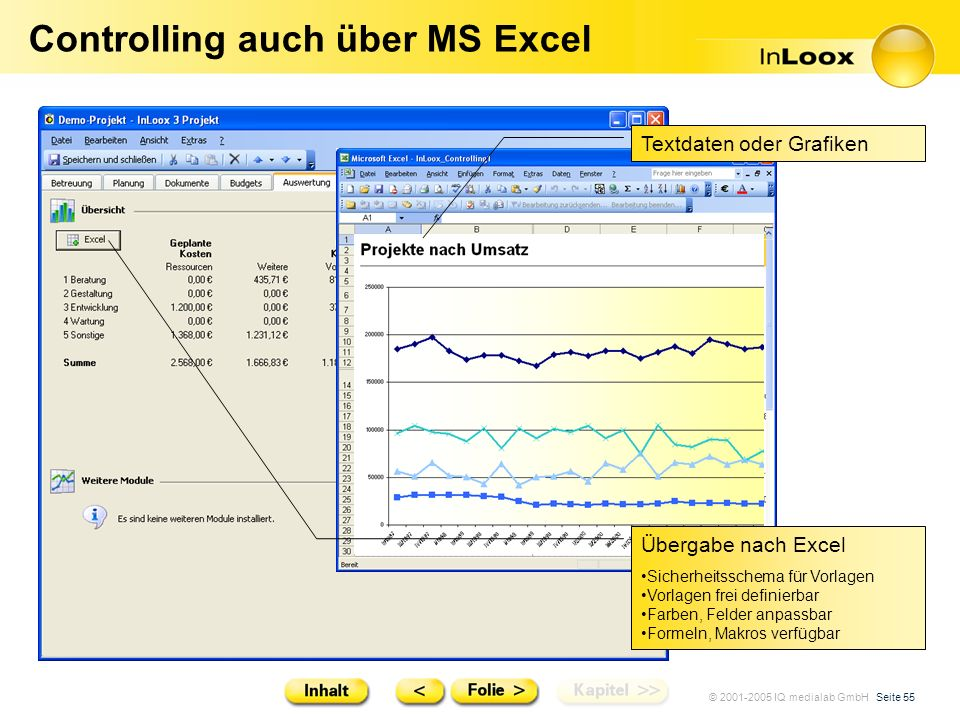 Controlling auch über MS Excel