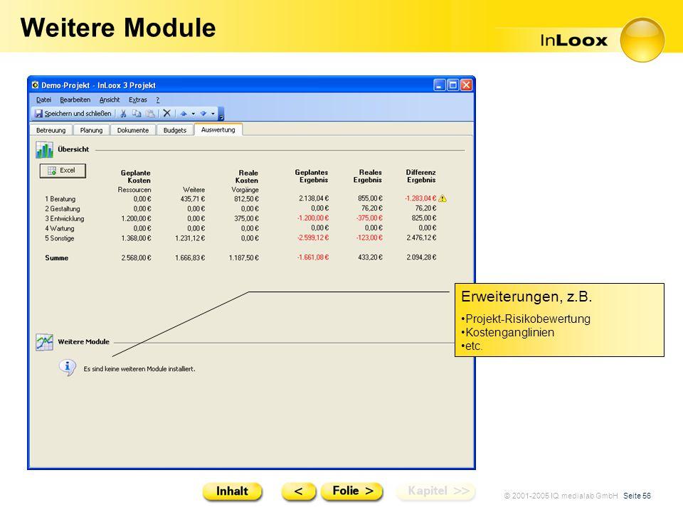 Weitere Module Erweiterungen, z.B. Projekt-Risikobewertung