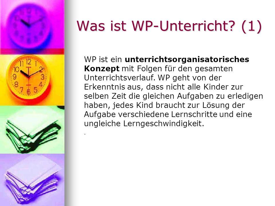 Was ist WP-Unterricht (1)