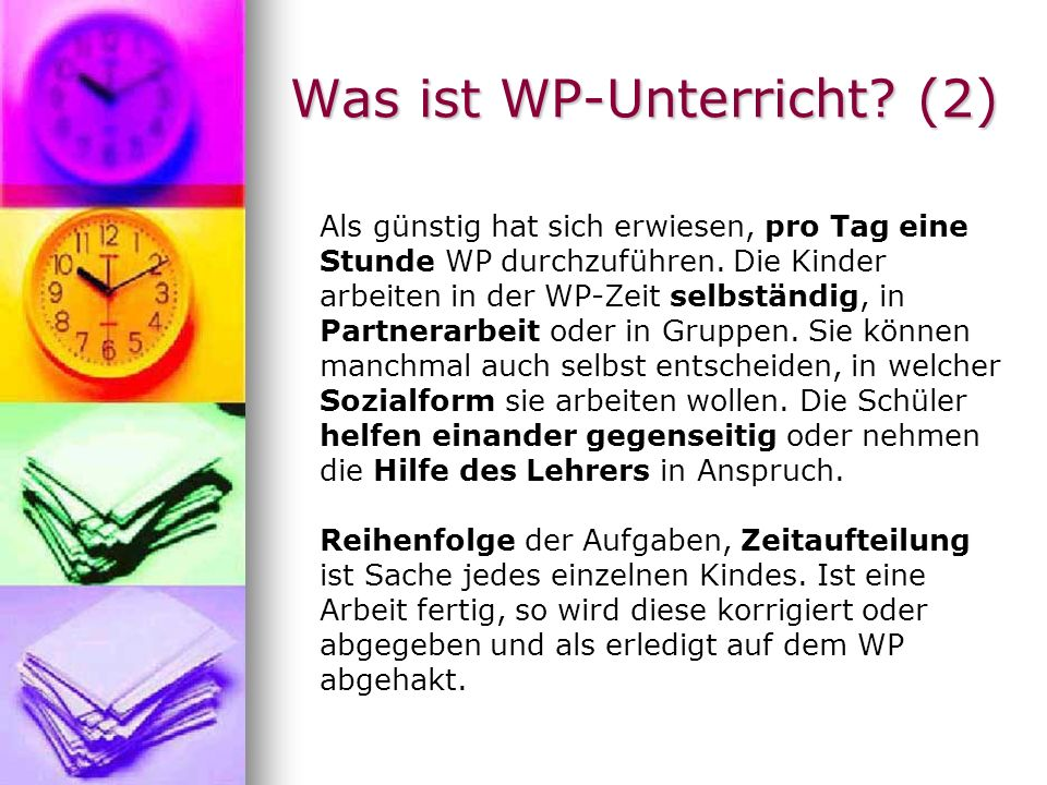 Was ist WP-Unterricht (2)