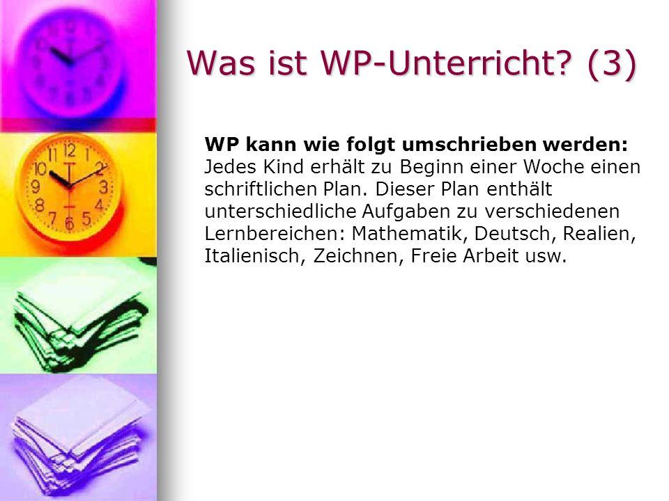 Was ist WP-Unterricht (3)
