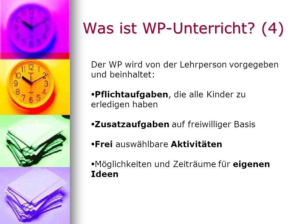 Was ist WP-Unterricht (4)