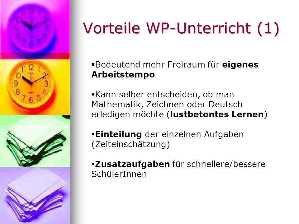 Vorteile WP-Unterricht (1)