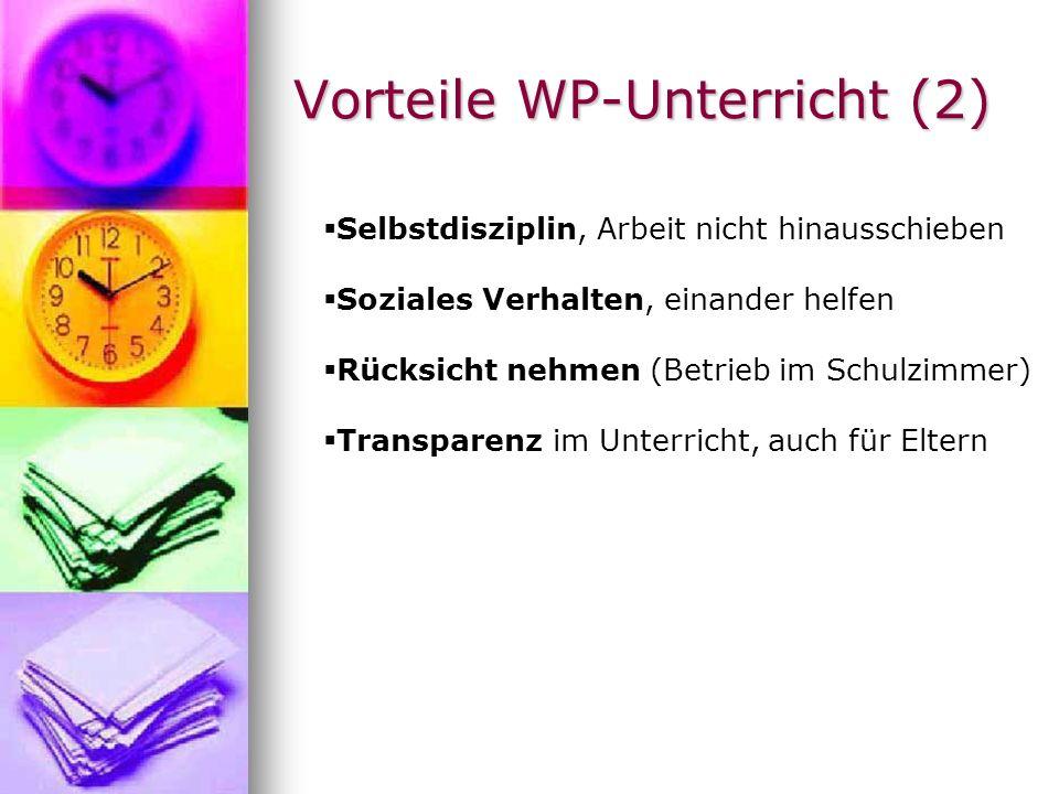 Vorteile WP-Unterricht (2)