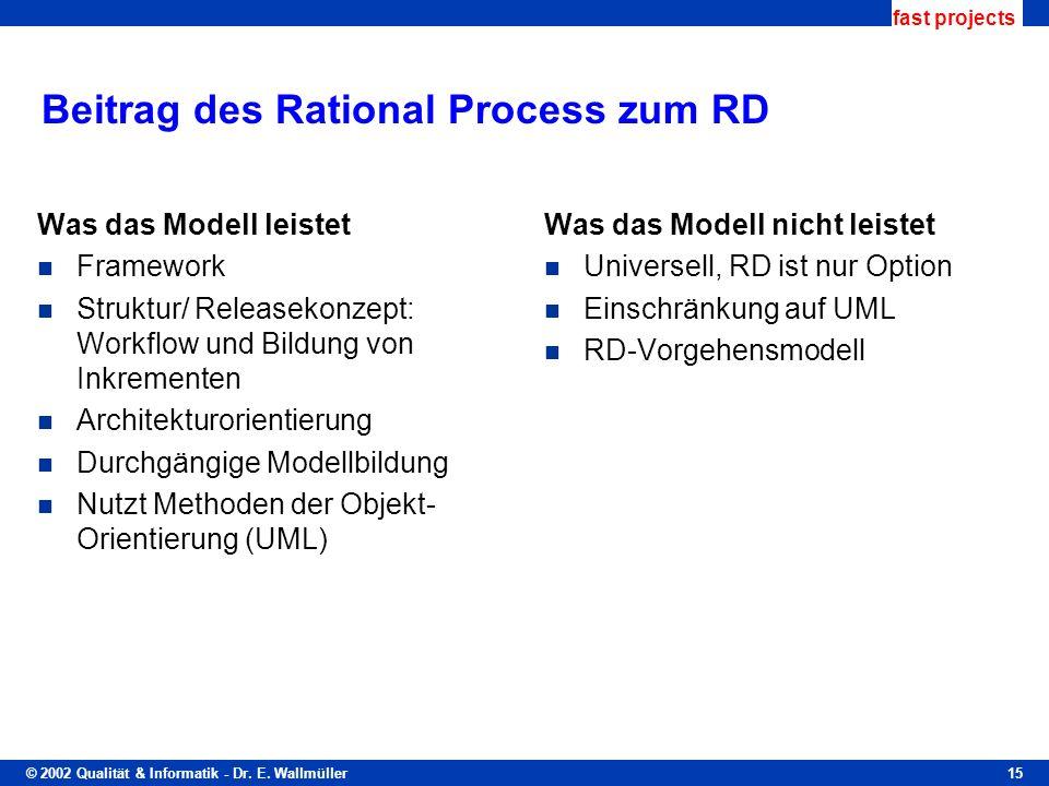 Beitrag des Rational Process zum RD