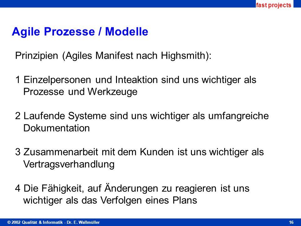 Agile Prozesse / Modelle